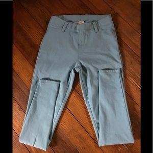 Aqua blue legging jeans S 4-6 Faded Glory NWOT